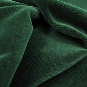 Velours donkergroen zware kwaliteit Arella