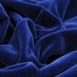 Velours blauw zware kwaliteit
