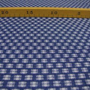 Jeans vierkant blauw wit Editex